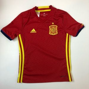 Adidas Spain National Soccer Jersey Youth Size S
